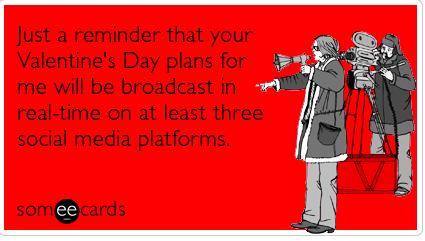 Valentine's day, Social Media