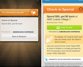 Foursquare credit card alliance