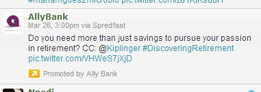 Sample of a Promoted Tweet